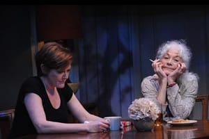 Deborah Hazlett as Barbara Fordham and Linda Thorson as Violet Weston.(Photo: Stan Barouh)