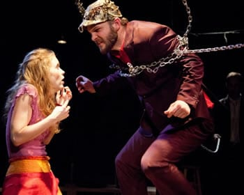 Sara Dabney Tisdale as Ariadne and David Zimmerman as the Minotaur (Photo: C. Stanley Photography)