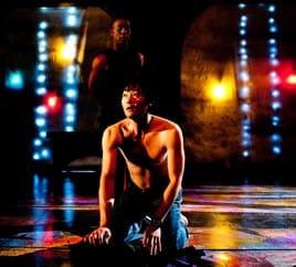 Foreground - Michael Wong as Kafka, Background - Dane Figueroa Edidi as Crow (Photo: Franc Rosario)
