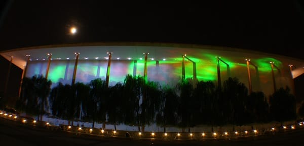 The Nordic Cool Festival's Northern Lights exhibit lights up the Kennedy Center (Photo: Xerxes Unvala)