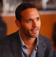 Daniel Sunjata plays the dramaturg, Peter