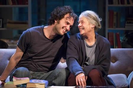 Grant Harrison as Leo and Tana Hickenas Vera  in Studio Theatre's production of 4000 Miles. (Photo: Scott Suchman)