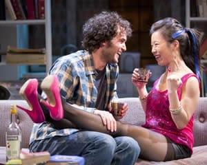 Grant Harrison as Leo and Annie Chang as Amanda (Photo: Scott Suchman)