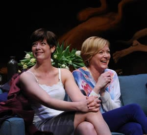 Megan Anderson as Annette and Deborah Hazlett as Veronica (Photo: Stan Barouh)