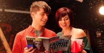 Fringe: we open in 10 hours. Andy Mientas as Kyle and Ana Vargas as Krysta (Photo: NBC/Smash)