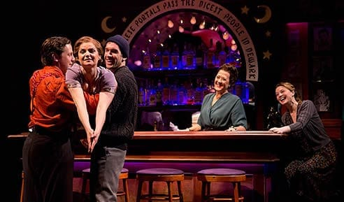 (l-r) Joe Tippett, Mary Bacon, Tom Berklund, Karen Ziemba, and Margot White (Photo courtesy of The Actors Company Theatre)