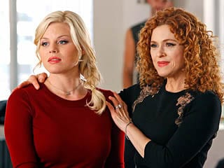Megan Hilty as Ivy and Bernadette Peters as her mom