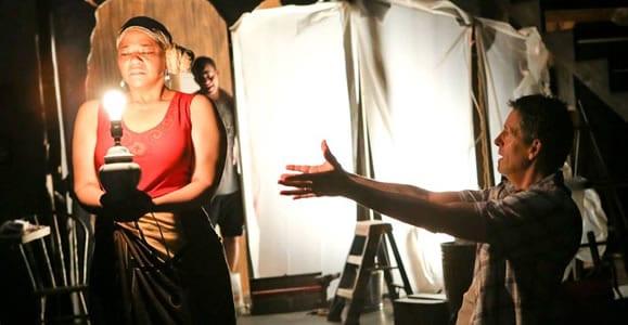 Caroline Clay as Clementine, Thony Bienvenido Mena as Reginald and Jeff Allin as Jaffy (Photo: Melissa Blackall)