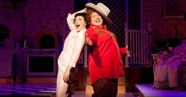 Jenny Lee Stern as Patsy Cline and Robin Baxter as Louise Seger. (Photo: Nancy Anderson Cordell)