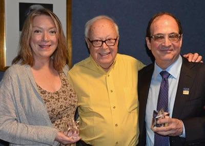 Richard Seff Awards 2013 recipients: Kristine Nielsen, Richard Seff and Lewis J. Stadlen(Photo: John Quilty)