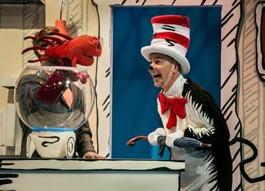 Puppeteer Alex Vernon with the Fish and Rick Hammerly as The Cat in the Hat (Photo: Mike Horan)