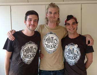 photo, from left: Pointless Theatre members: Matt Reckeweg, Devin Mahoney, and Scott Whalen (Photo: Hunter Styles)