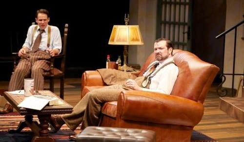 "Rod Brogan as ""Ernest Hemingway"" and Joey Collins as ""F. Scott Fitzgerald"" (Photo by Seth Freeman)"