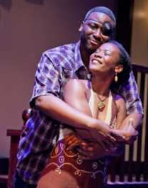 G. Alverez Reid as William and Tricia Homer as Sonia (Photo: C. Stanley Photography)