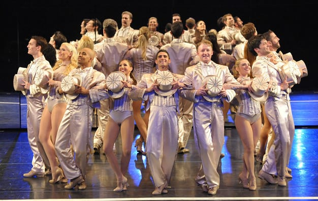 The cast of Olney Theatre Center's production of A Chorus Line (Photo: Stan Barouh)