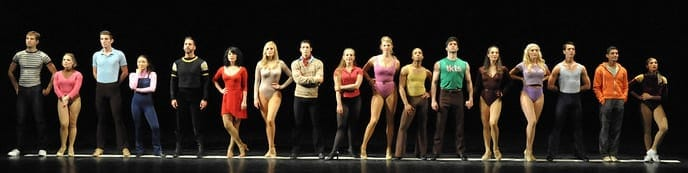 The cast of A Chorus Line. (Photo: Stan Barouh)