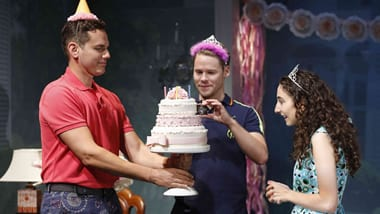 Paul Anthony Stewart, Randy Harrison and Alexis Molnar (Photo: Carol Rosegg)