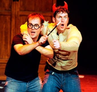 (l-r) Jefferson Turner and Daniel Clarkson in Potted Potter