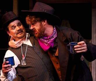 (l-r) Nephi Sanchez as Pedrillo and Jeffrey Tarr as Osmond (Photo: Angelisa Gillyard)