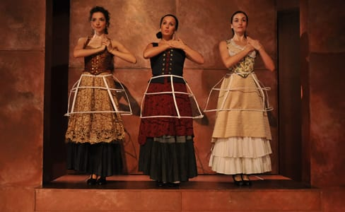 Natalia Miranda-Guzmán, Menchu Esteban, Carmen Cabrera (left to right); Photo by Phil Lampron