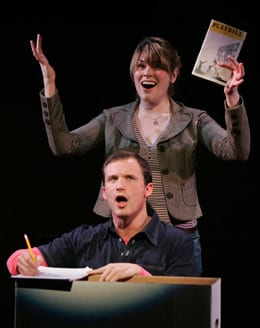 Jeff Bowen and Heidi Blickenstaff in [title of show]. (Photo: Carol Rosegg)