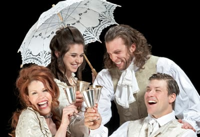 The Cast of She Stoops to Conquer.(Photo by Michael Bailey)