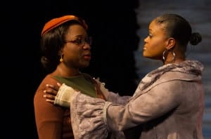 Ines Nassara as The Civil Rights Marcher and Nova Y. Payton as the Unknown Woman (Photo: Teresa Wood)