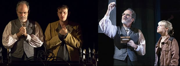 Eric Hissom with Michael Goldsmith (Romeo) and Erin Weaver (Juliet). Photos: Teresa Wood.