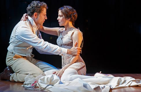 Christopher Innvar as Theodore Gaesling  and Mary-Louise Parker as Elizabeth Gaesling (Photo: Joan Marcus)