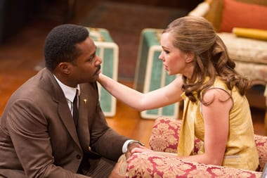 Malcolm-Jamal Warner as Dr. John Prentice and Bethany Anne Lind as Joanna Drayton  (Photo: Teresa Wood)