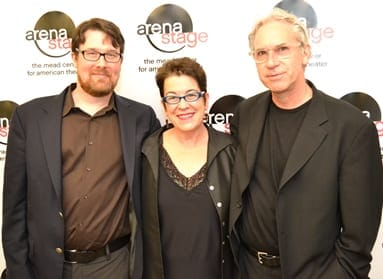 Todd Kreidler, Arena Stage Artistic Director Molly Smith and Todd, Molly and director David Esbjornson at the opening night of Guess Who's Coming to Dinner (Photo courtesy of Arena Stage)