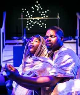 Jessika Doby as Mary and Marty Lamar as Joseph (Photo: C. Stanley Photography)