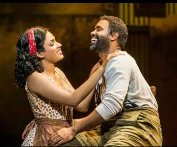 Alicia Hall Moran as Bess and Nathaniel Stampley as Porgy. (Photo: Michael J. Lutch)