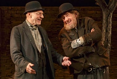 """Patrick Stewart and Ian McKellen in """"Waiting for Godot"""" at the Cort Theatre."""