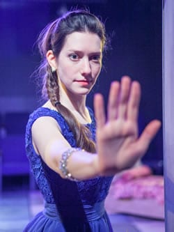 Natalie Cutcher as Aiofe (Photo: C. Stanley Photography)