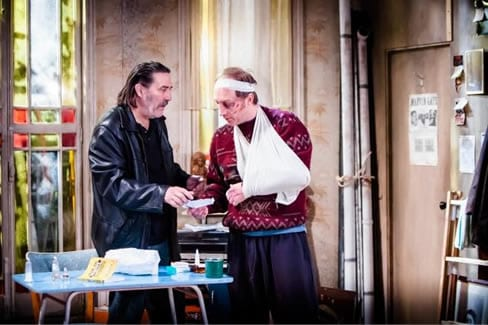 (l-r) Ciaran Hinds and Michael McElhatton in The Night Alive (Photo: Helen Warner)