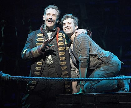 Luke Smith as Smee and John Sanders as Black Stache (Photo courtesy of