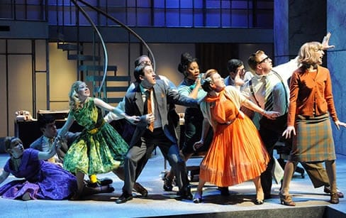 More of the cast of How to Succeed in Business Without Really Trying (Photo: Stan Barouh)