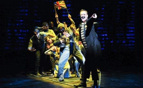 John Sanders as Black Stache and the cast of Peter and the Starcatcher (Photo: Jenny Anderson)