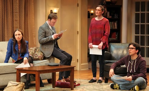(l-r) Laura C. Harris  as Izzy, Tom Story as Douglas, Katie deBuys as Kate and Alexander Strain as  Martin (Photo: Danisha Crosby)