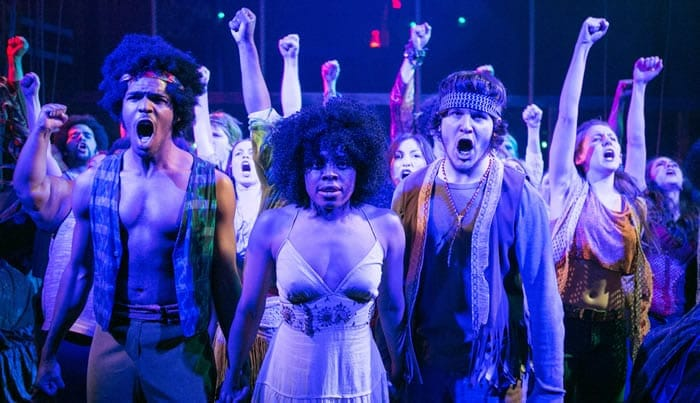 Members of the cast of Hair at Keegan Theatre. (Photo: C. Stanley Photography
