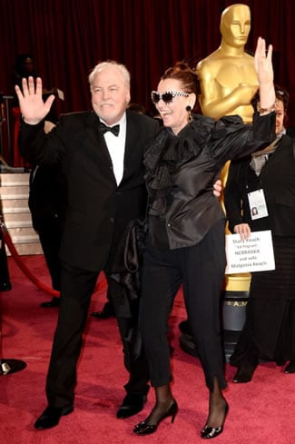 Stacy Keach and Malgosia Tomassi at the Oscars (Photo: Frazer Harrison, GETTY Images)