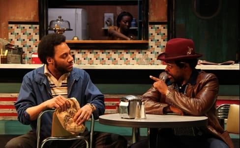 Ricardo Frederick Evans as Sterling and KenYatta Rogers as Wolf (Photo: Danisha Crosby)