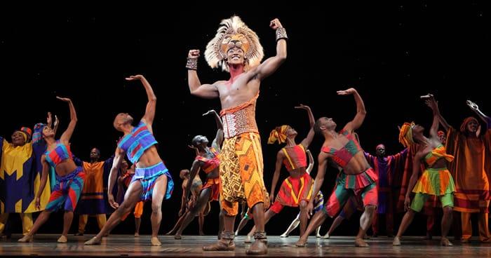 Jelani Remy as Simba and the Lion King ensemble (Photo: Joan Marcus)