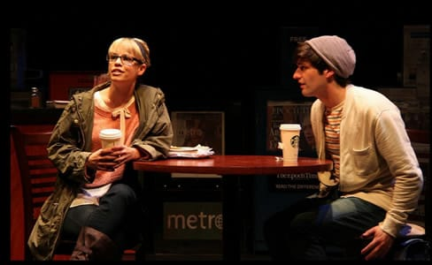 Erin Weaver as Deb and Samuel Edgerly as Warren (Photo: Danisha Crosby)