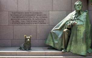One section of the Franklin Delano Roosevelt Memorial