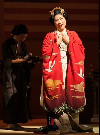Yunah Lee as Cio-Cio-San (Photo: Karli Cadel/The Glimmerglass Festival)