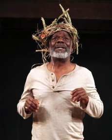 Joseph Marcell as King Lear in the Shakespeare Globe production (Photo: Ellie Kurttz.