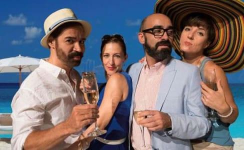 (l-r) Carlos Castillo, Luz Nicholas, Chani Martin, Monica Bohill (Photo: Courtesy GALA Hispanic Theatre)