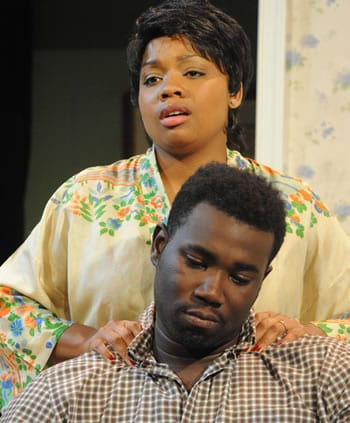 Krenee Tolson as Ruth and Kahlil Daniel as Walter (Photo: Stan Barouh)